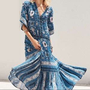 Dresses & Skirts - Blue ZAHARA Floral Maxi DRESS Gown Navy NEW